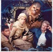 Автографы: Дэйзи Ридли, Джон Бойега, Питер Мейхью. Звёздные войны: Пробуждение силы.